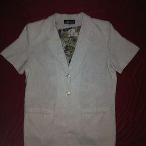 Beige Sag Harbor jacket size 13 with tank size L